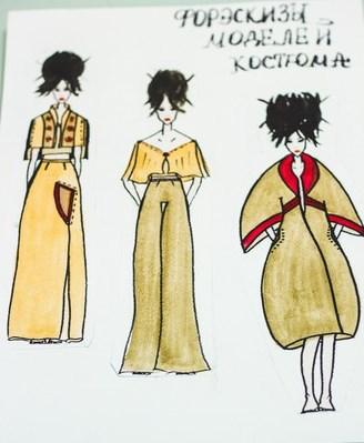 Разработка дизайна платья