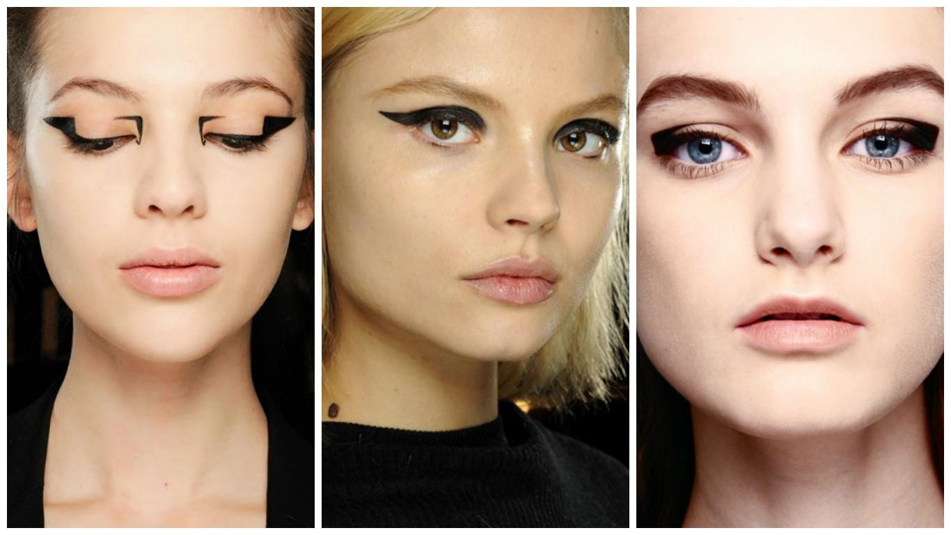 Графичные стрелки макияж